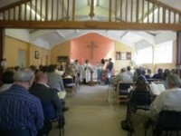 A baptism at St Anne's